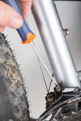 arreglando bici