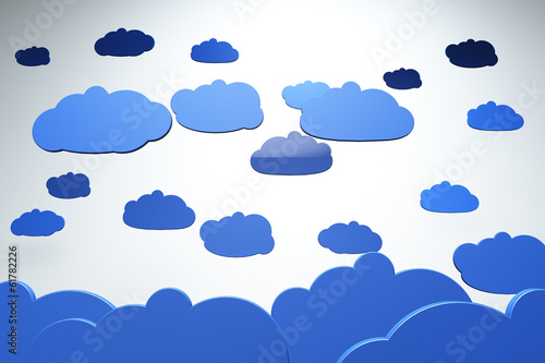 Clouds Cartoony 3D artwork
