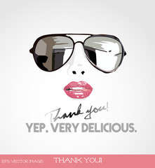 eps Vector image:Thank you!