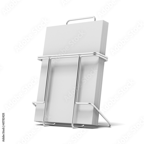 Metal box holder for leaflets