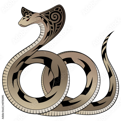 Snake, Cobra in the form of a tattoo