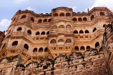 Balconies Mehrangarh fort  Jodhpur, Rajasthan india