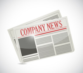 company news. newspaper illustration
