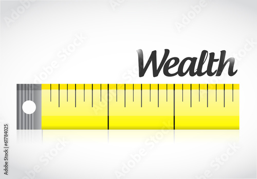 measure wealth concept illustration design