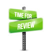 time for review sign illustration design