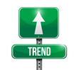 trend sign illustration design