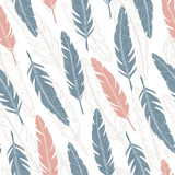 Feather pattern. Vector illustration.