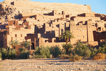 Ait Benhaddou is a fortified city, or ksar  in  Morocco.