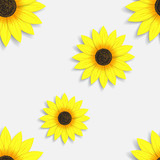 Seamless wallpaper with sunflowers