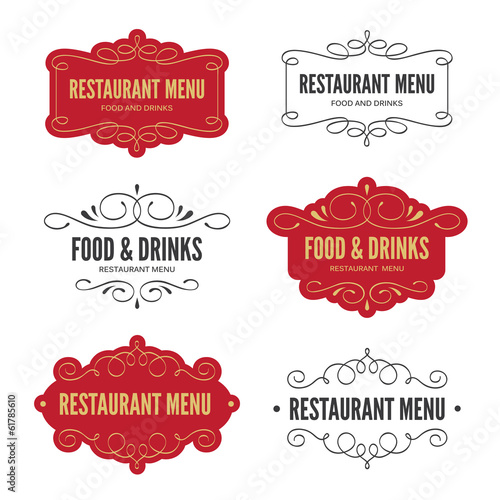 Menu labels