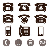 Phone Icons vector set