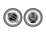 microphone badge