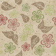 Seamless floral hand drawn pattern