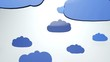 Cartoony Clouds animation