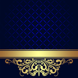 Navy blue Background decorated the golden royal Border.