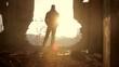 Silhouette Man Depression Desertion Solitude Loneliness Concept