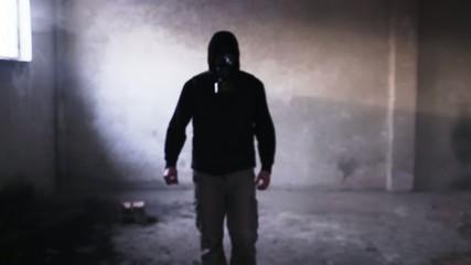 Dangerous Man Gas Mask Toxic Danger Disaster Protection