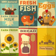 Set of Posters for Organic Farm Food