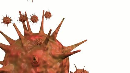 Flu virus animation 3D