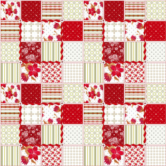 Patchwork seamless pattern texture background