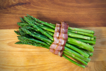 Bacon Wrapped Steamed Asparagus