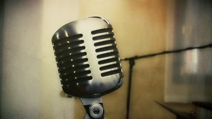 Vintage microphone antique