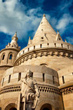Fishermen's bastion at summer in Budapest, Hungary