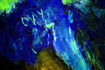 abstract painting with dark blue,  illustration