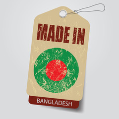 Made in Bangladesh . Tag .