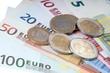 Euro Geldscheine und Euromünzen