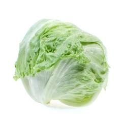 Lettuce iceberg, isolated on white