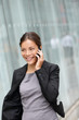 Business woman talking on smart phone