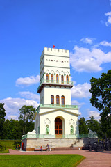 White Tower in Tsarskoye Selo (Leningrad region)