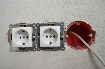Strom Steckdose Installation Elektrik Elektriker
