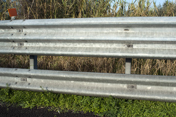 Motorway guard rail