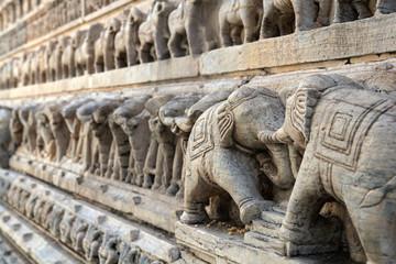India, stone work detail