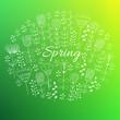 Spring doodle background.