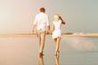 Paar am Strand im Sommer Strand Urlaub