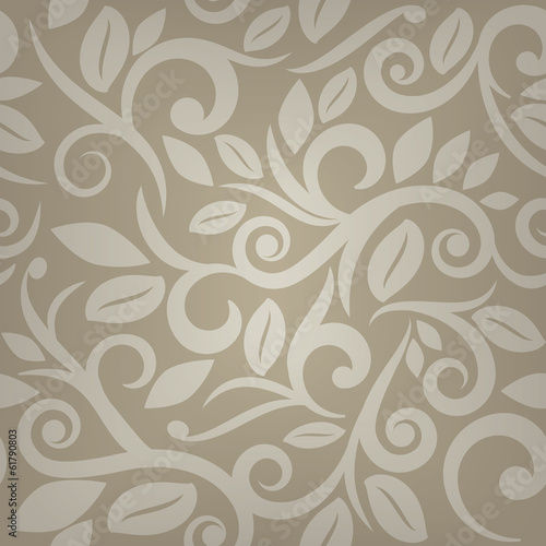 Tan beige or cream floral seamless background