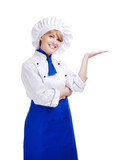 chef woman making gesture with her hand