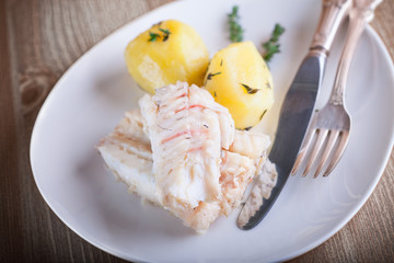 Steamed fish and potato