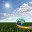 Brasilian Soccer and light beams