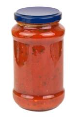 tomato sause in a jar