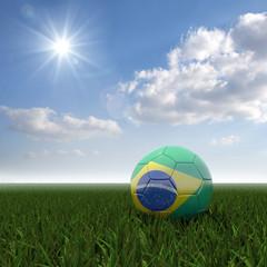 Brasilianisch farbiger Fussball