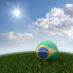 Brasilian soccer on field