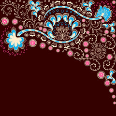 Simple brown background inspired by Indian mehndi designs