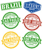 Brazil cities stamps set