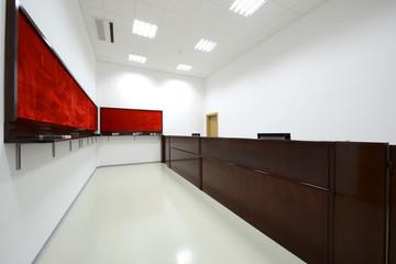 Empty reception room interior