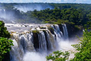 Awesome Iguazu waterfall in Brazil
