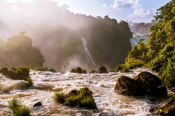Iguassu Falls at sunset